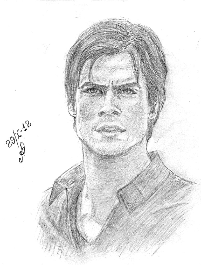 Ian somerhalder by aes25 on deviantart dibujos art - Vampire diaries dessin ...