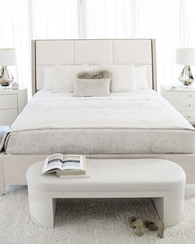 "Bernhardt Axiom 56"" Oval Bench Neiman Marcus Furniture"