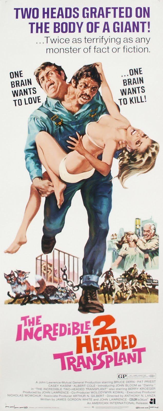 The Incredible 2-Headed Transplant (1971) Stars: Bruce Dern, Pat Priest, Casey Kasem, Albert Cole, John Bloom, Berry Kroeger ~ Director: Anthony M. Lanza