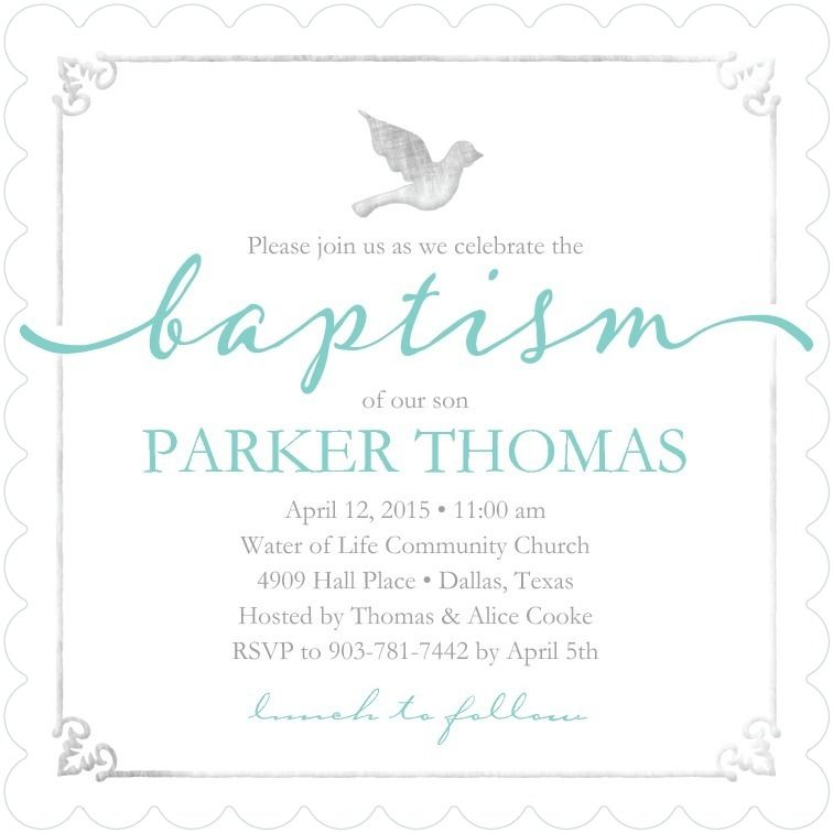 Stylish Celebration - Adult Birthday Party Invitations in Capri Blue - sample baptismal invitation for twins