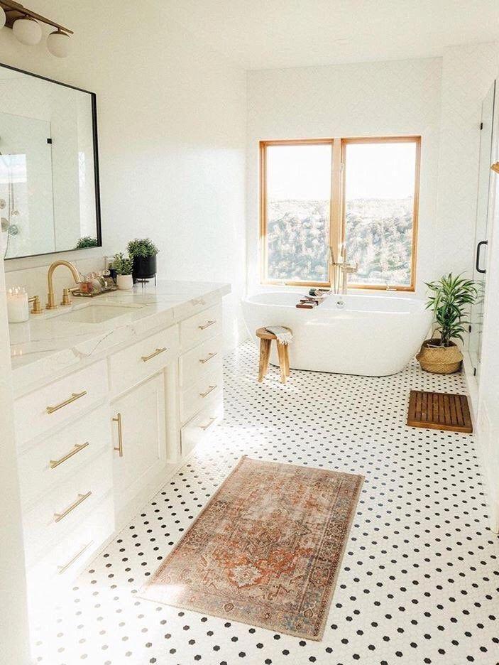 Photo of Large Modern Wall floating Mirror Bathroom Vanity Decorative Industrial Rectangle Steel Framed Frame