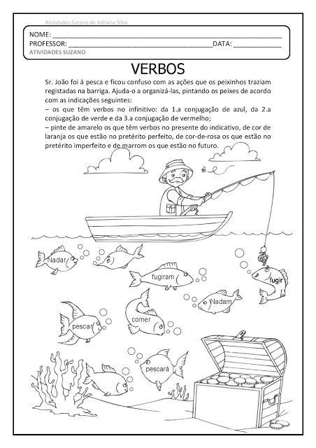verbo, sílaba e código EM PDF | Lengua | Pinterest | Free education ...
