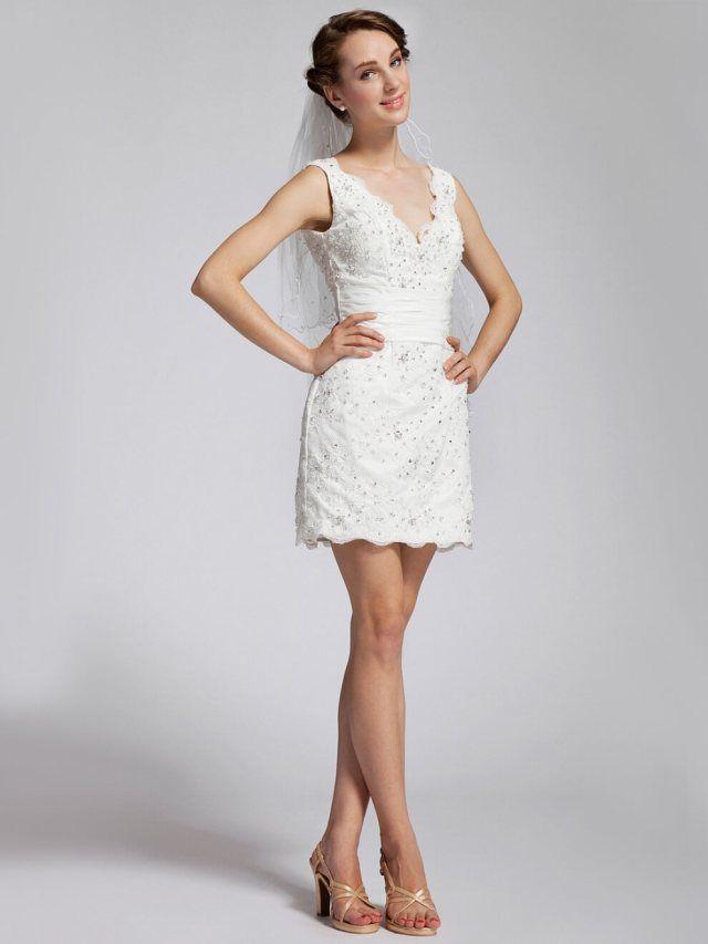 31 Beautiful White Lace Wedding Dress Short Wedding Inspirations
