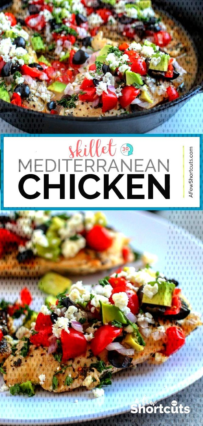 Looking for a quick and easy low carb dish? This Skillet Mediterranean Chicken Recipe is a deliciou