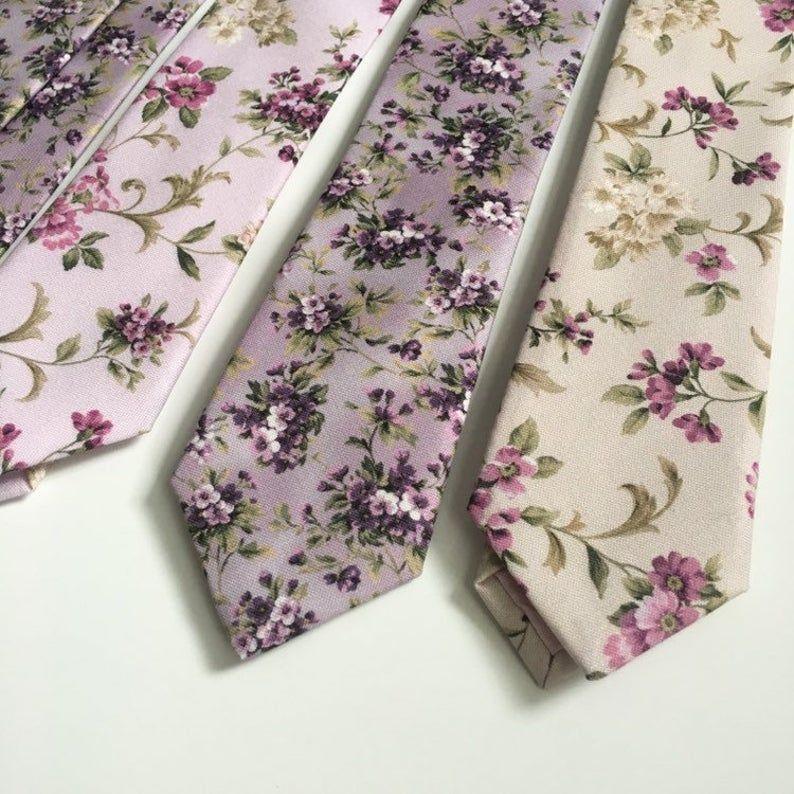 Mens Necktie Floral Purple Lilac Violet Mauve Wedding Tie Etsy In 2020 Mens Wedding Ties Wedding Ties Mens Neck Ties