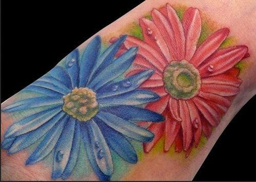 Aster Flower Tattoo September Birth Flower Would Like This On A Sleeve Birth Flower Tattoos September Birth Flower Aster Tattoo
