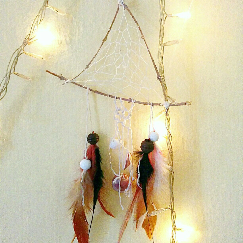 Wooden olive tree boho dreamcatcher/hippie college room decor ...
