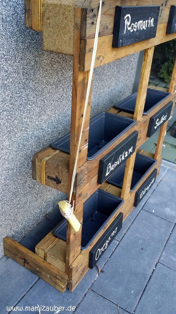 DIY Kräuterbeet aus Europaletten - Ein Hauch mediterranem Flair #fooddiy