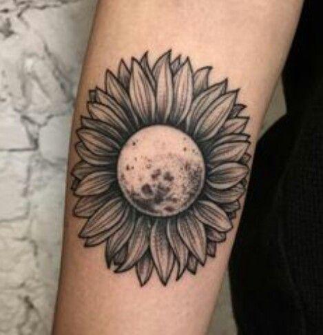 Moon Turned Sunflower Tattoo Sunflower Tattoos Tattoos