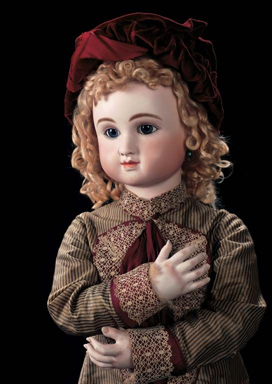 """Outstanding French Bisque Bebe Steiner,Figure C in Grand 35"""" Size,with Bisque Hands"""