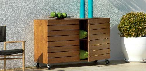 modernes garten sideboard aus holz mit rollen modus archiexpo terrasse pinterest. Black Bedroom Furniture Sets. Home Design Ideas