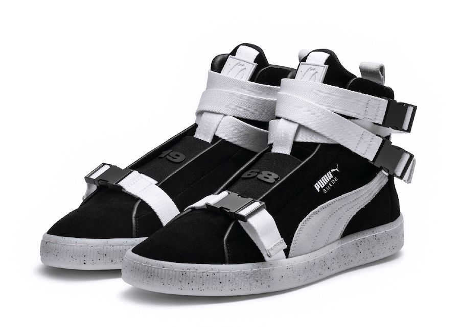Puma X Xo Suede 50 Classic Sneakers High Top Black Gum