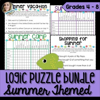 About this resource : This summer themed bundle co…