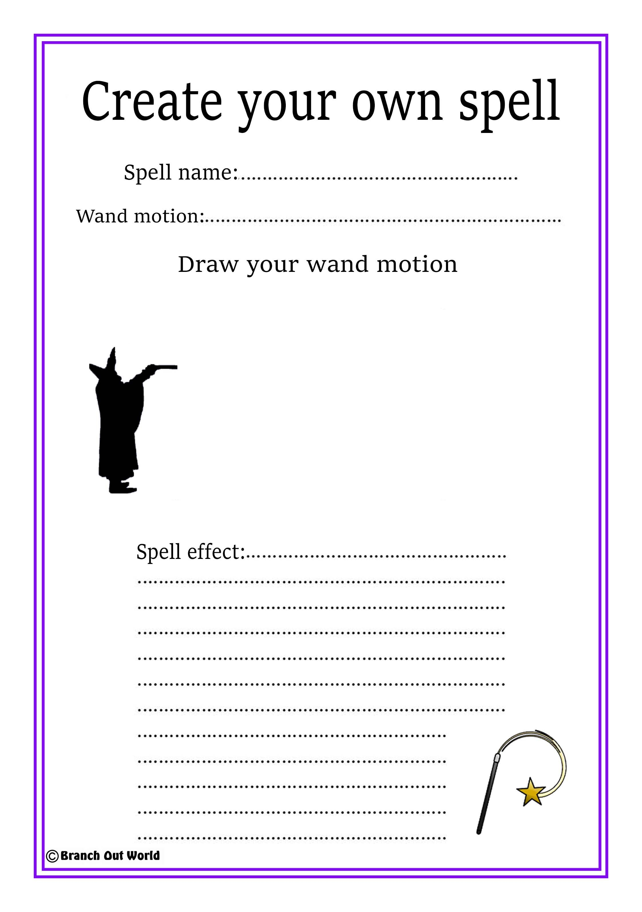 Free Printable Make Your Own Spelling Worksheets