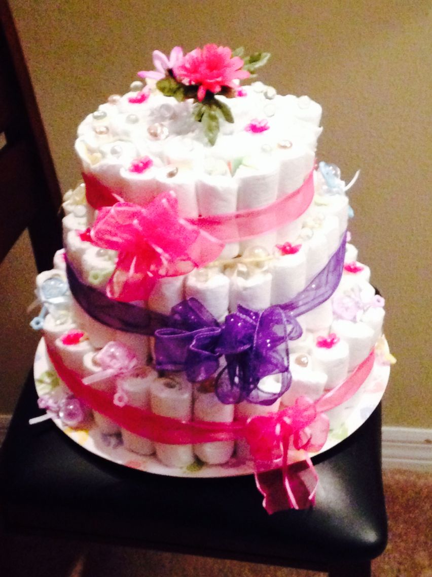 a79b690f3bfb Bedazzled diaper cake Shower Ideas