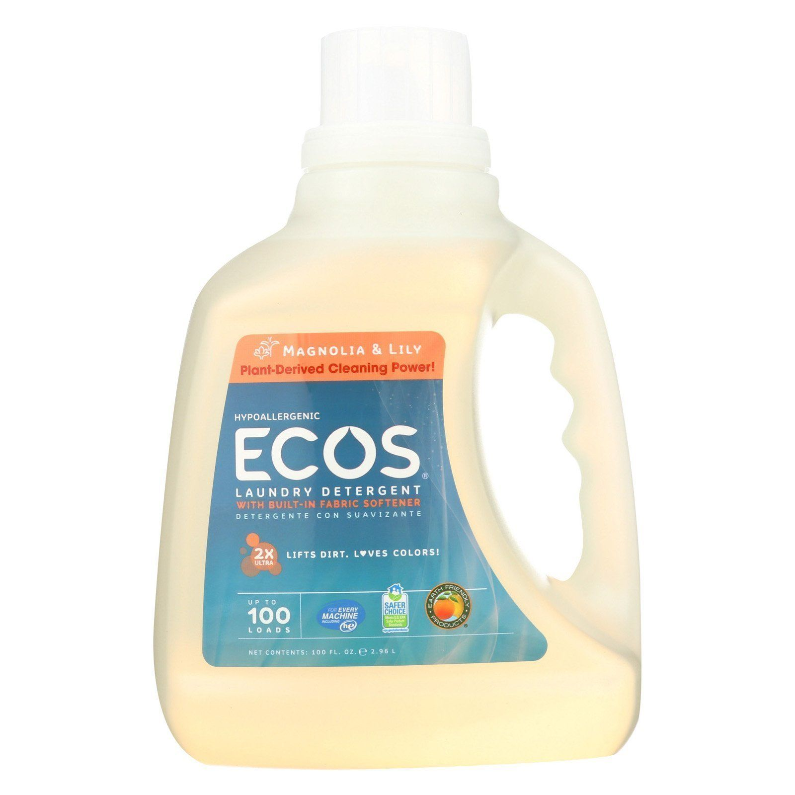 Earth Friendly Ecos Ultra 2x All Natural Laundry Detergent Magnolia And Lily 100 Oz Natural Laundry Detergent Laundry Detergent Natural Laundry