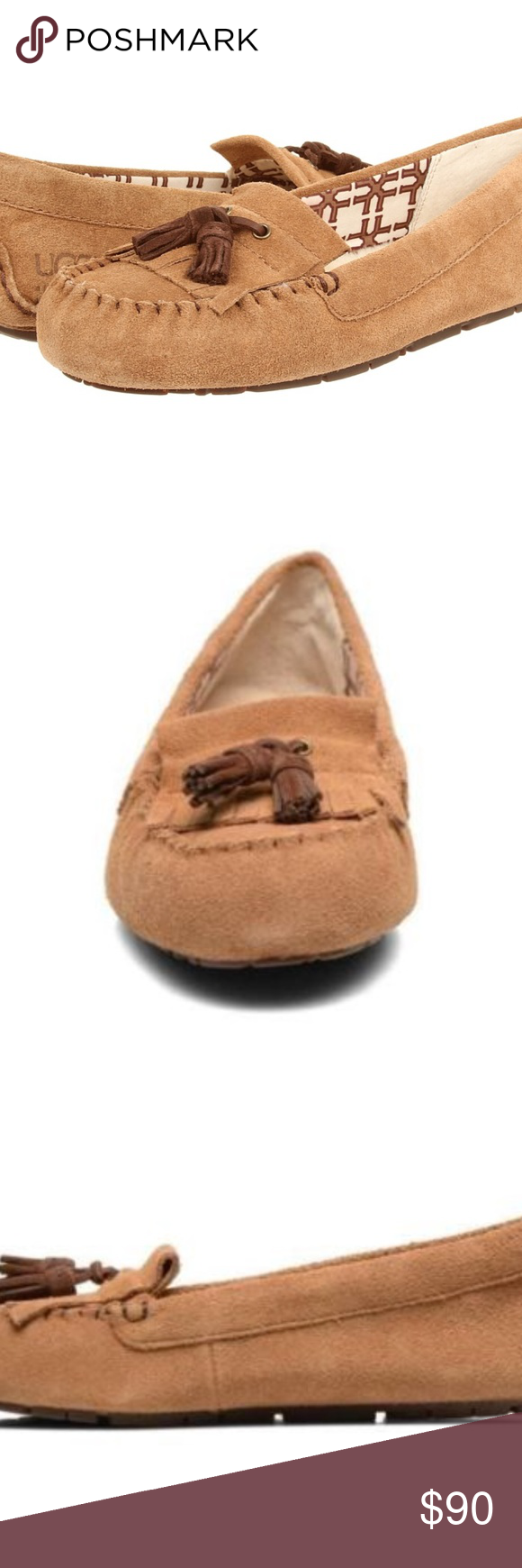 UGG LIZZY Chestnut Moccasins Loafers 11 New in box. May not contain all the original packing materials. Please know your size in the brand/style.   If purchased by 2:00 PM Central Time M-F, will ship same day!!   #1118 UGG Shoes Moccasins