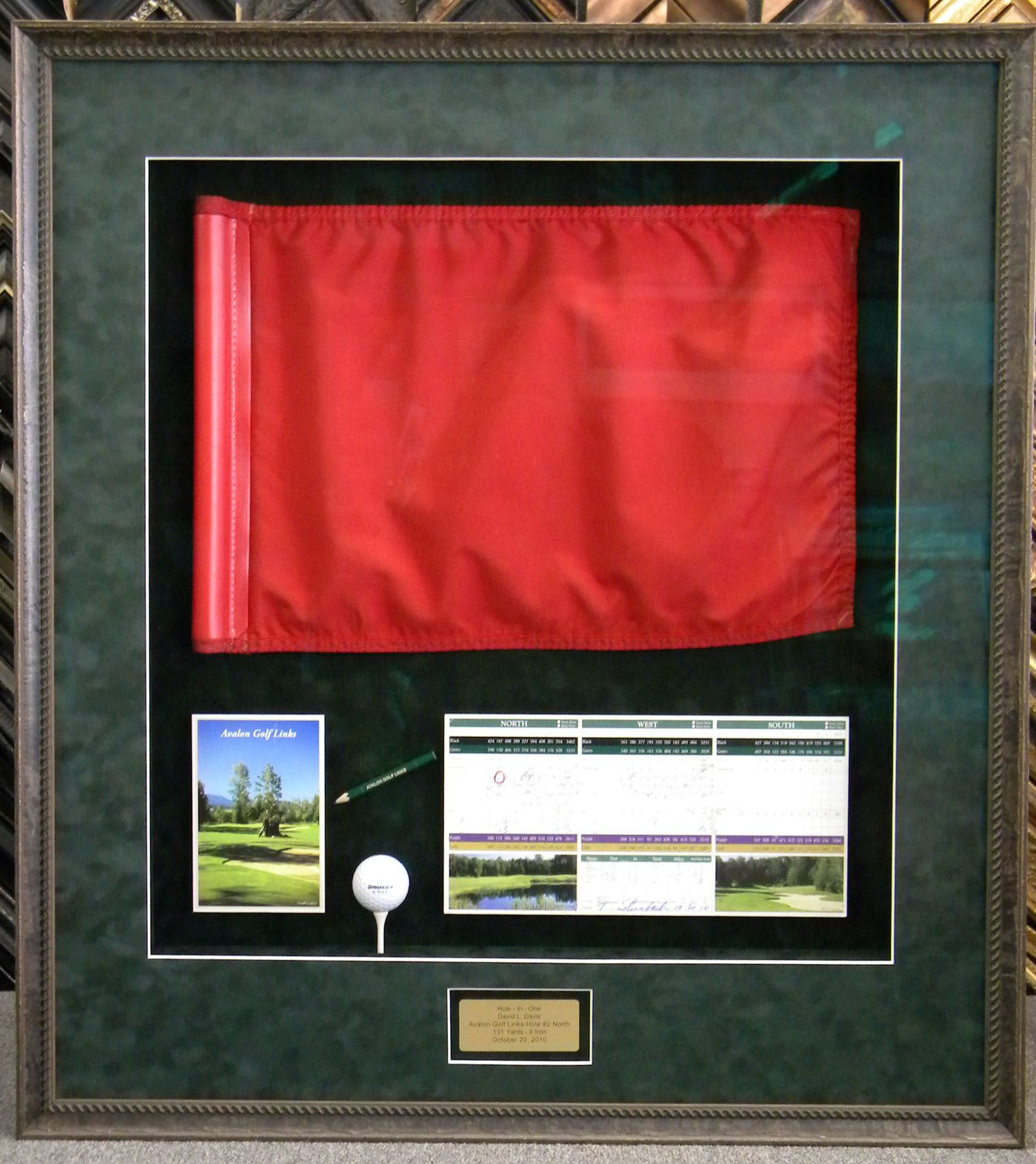 Hole On One Shadowbox With Flag Shadowboxes Shadow Box Flag