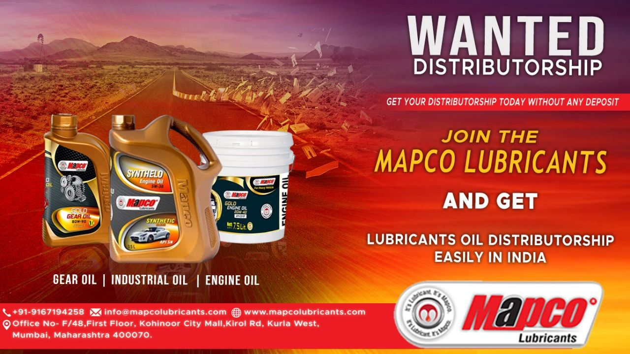 Mapco Lubricants Wanted Distributor S For Automotive Industrial