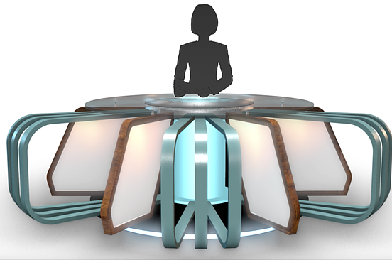 3d Model Store Virtual Tv Studio News Desks Professional 3d Models Ready To Be Used In Cg Projects Film A Blackfriday Design Tv Decor After Effects Projects