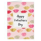 Pink Gold Red Watercolor Lips Valentines Day   valentines day gifts