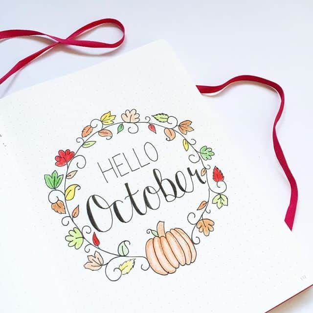 32 Fabulous October Bullet Journal Themes {Halloween, Fall and Pumpkins Galore!} #octoberbulletjournal