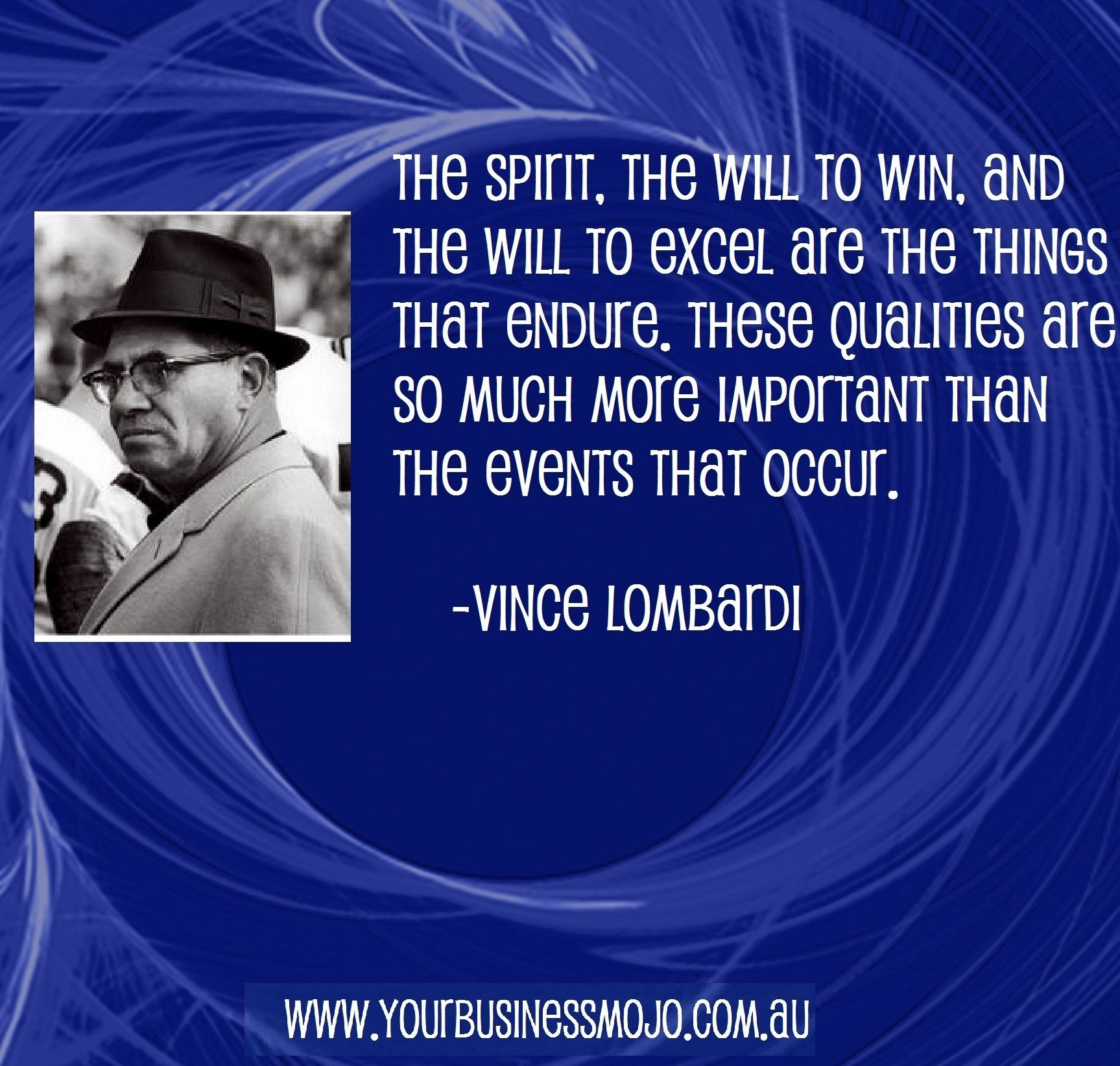 Quote by Vince Lombardi Sport quotes motivational