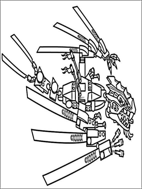 Lego Dragon Coloring Pages Designs Collections