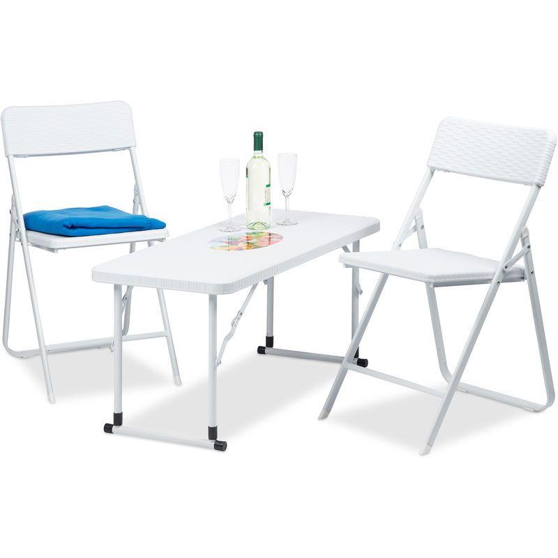Meubles de Jardin Set 3 Pièces Pliant 1 Table Hauteur ...