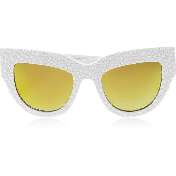 39d610faa9 Anna-Karin Karlsson Lush Lily cat-eye textured-acetate mirrored ...