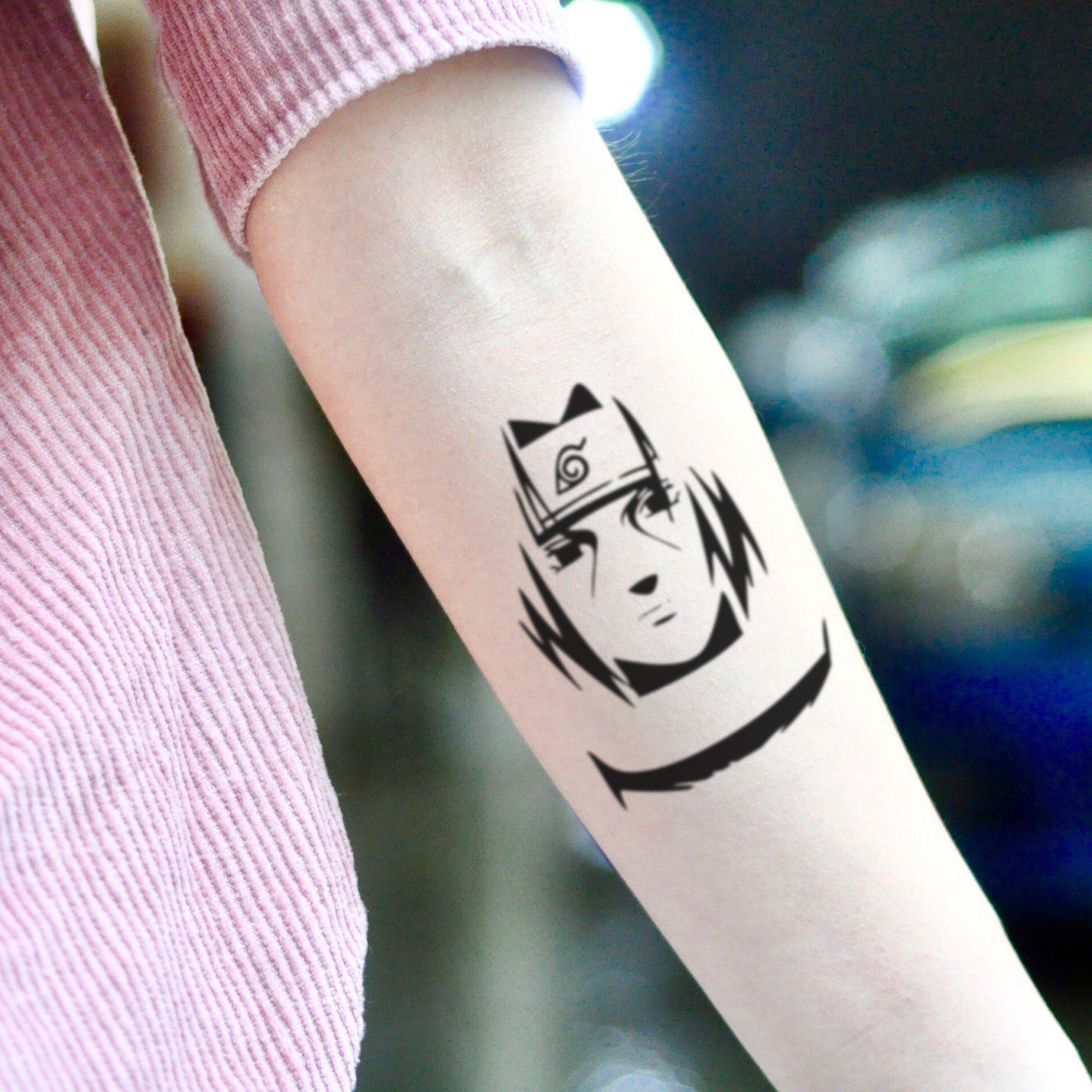 Itachi Uchiha Temporary Tattoo Sticker Set Of 2 Naruto Tattoo Small Tattoos Itachi Uchiha