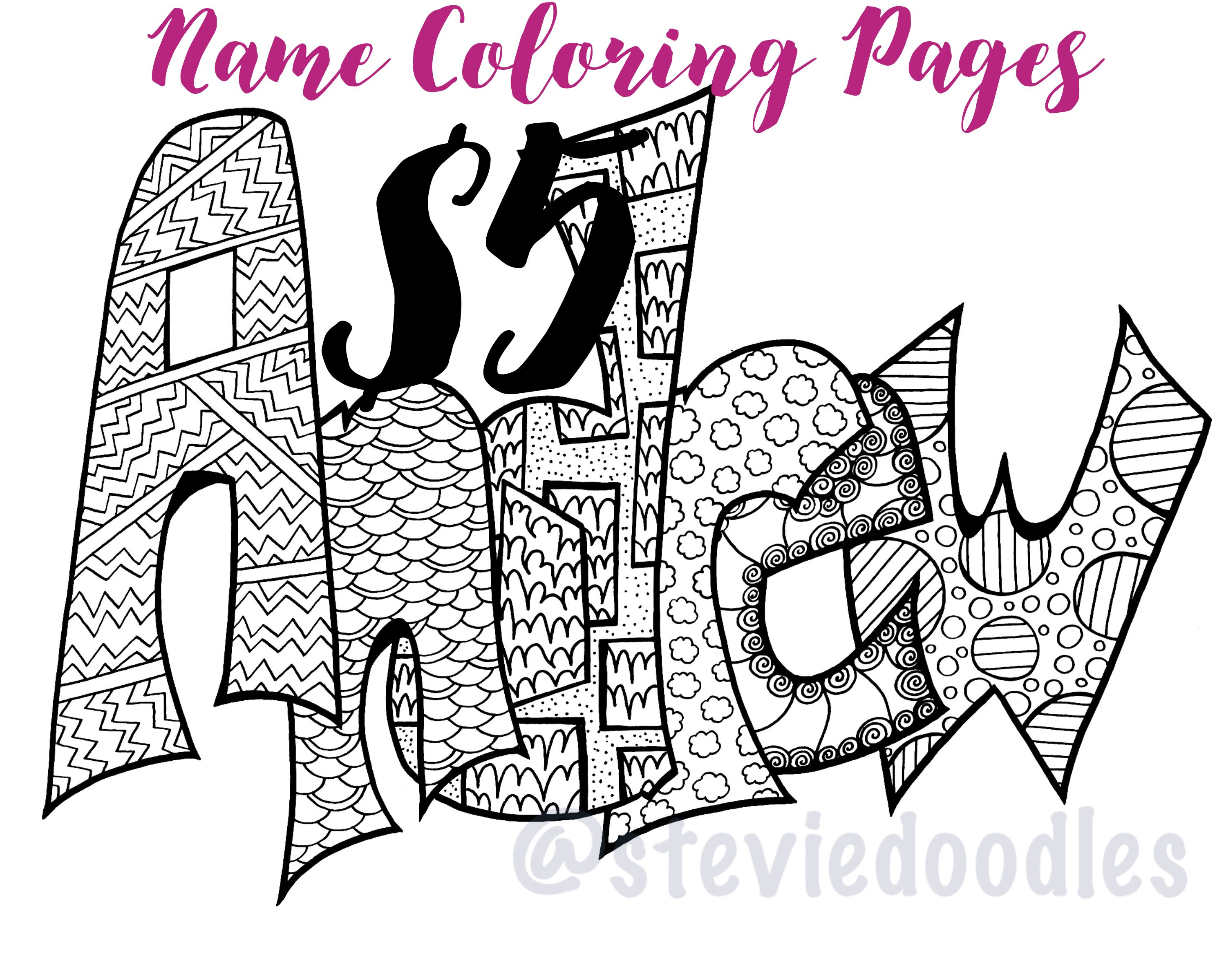 ANY NAME COLORABLE - Purchase this item and include a note with the ...