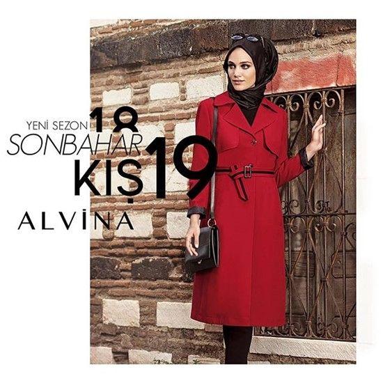 1897b71aa403d 2019 Tesettür Giyim Modelleri Alvina Pardesü -Abiye Elbise | 2019 ...