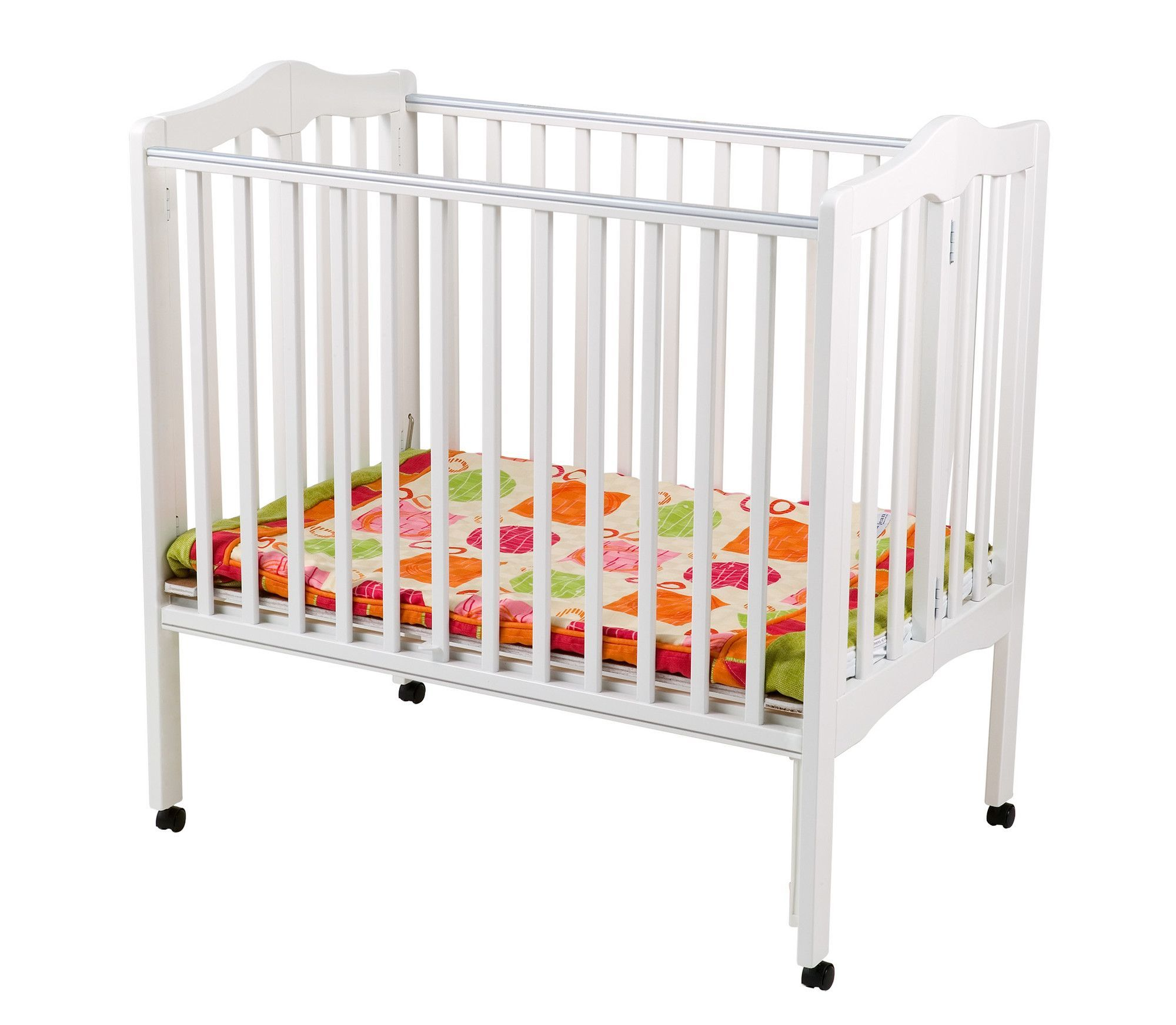 Portable Mini Convertible Crib with Mattress | Cribs | Pinterest