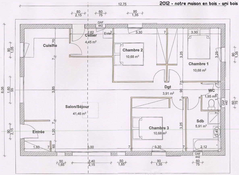 plan maison 90m2   Plan maison 90m2, Plan maison, Plan de maison gratuit