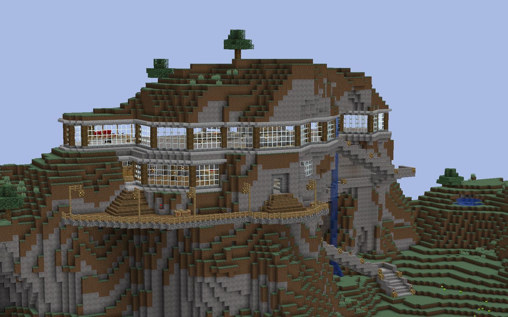 minecraft modern mountain houses