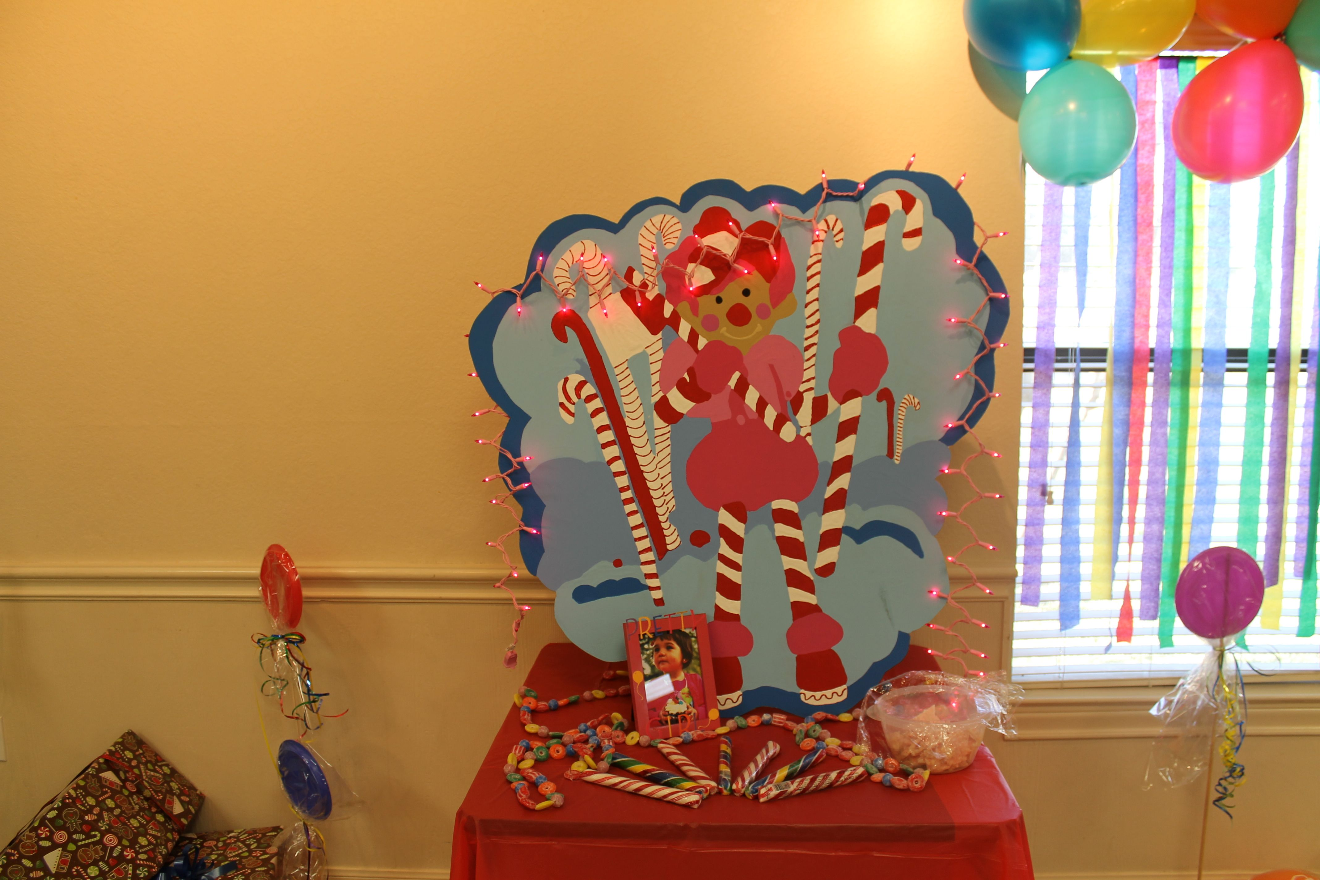 Custom made Mr Mint & Table for Laila's first Birthday Party