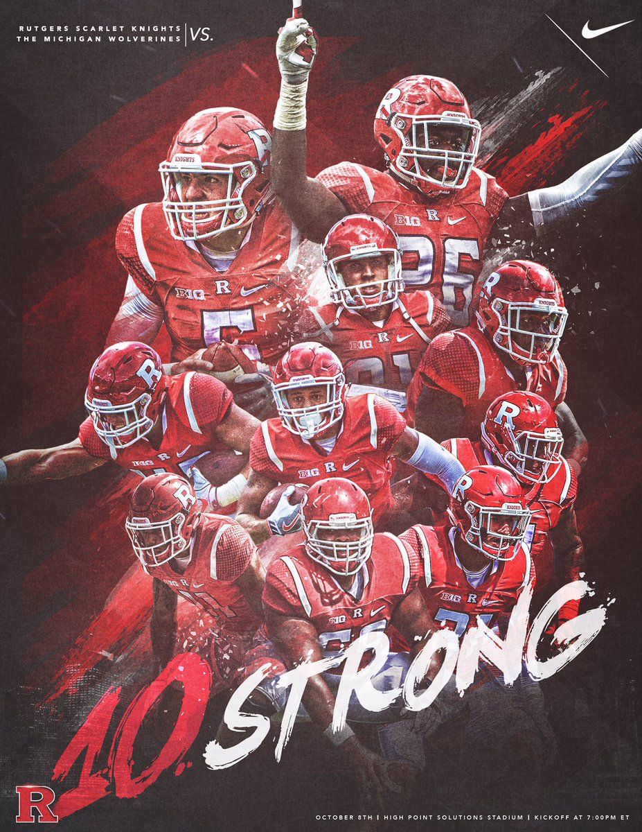 Rutgers Football Rfootball Twitter Rutgers Football Sport Poster Design Sports Design Inspiration