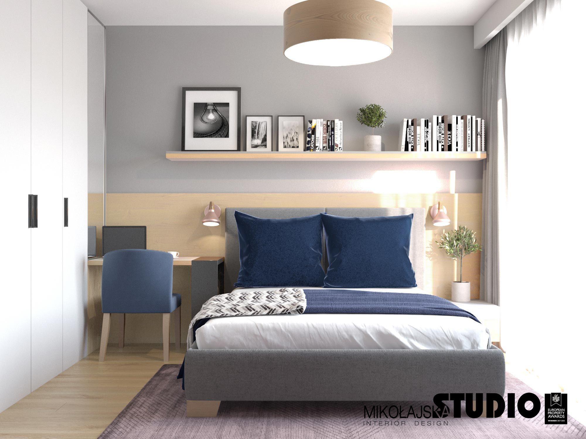 Wielkie Podwójne łóżko Drewniany Zagłówek Biała