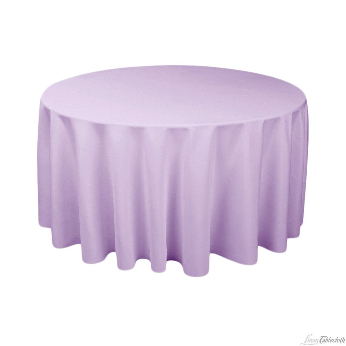 Buy 120 Inch Round Lavender Tablecloth For Weddings At