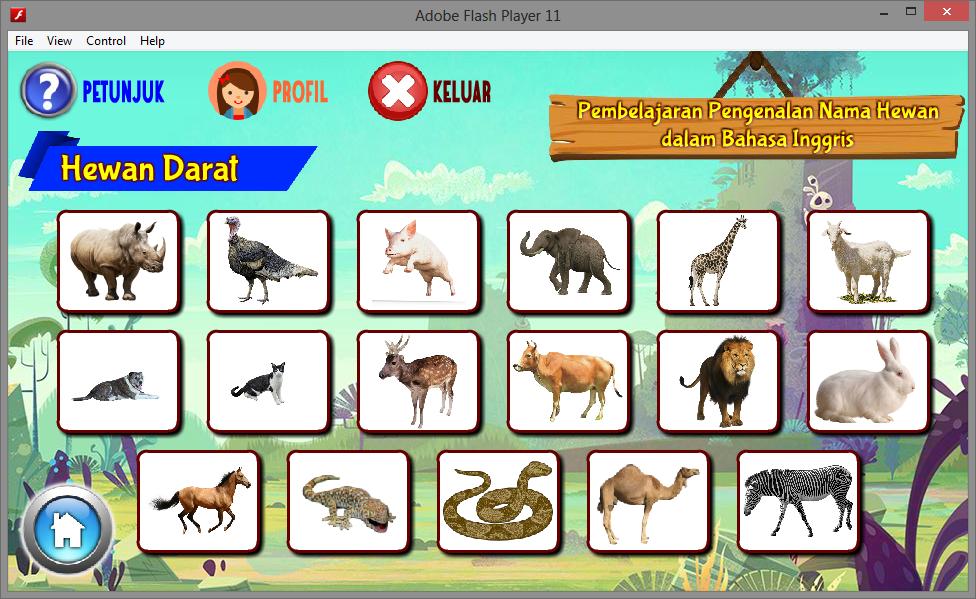 Aplikasi Game Edukasi Interaktif Anak Mengenal Hewan Game Edukasi Multimedia Flash