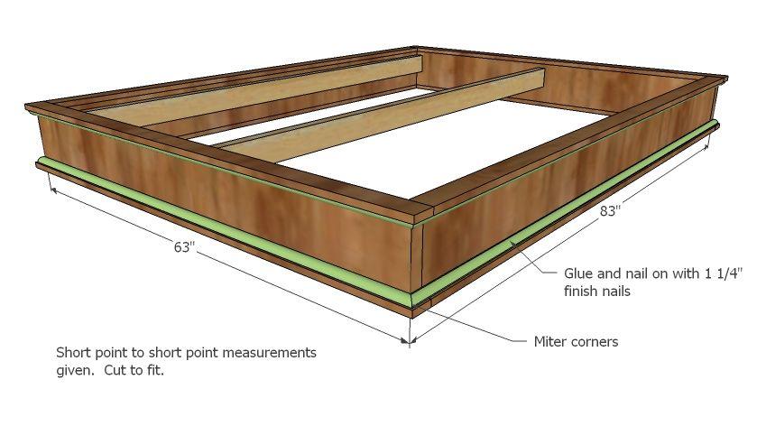 DIY platform bed frame |  Platform Bed   Queen Size | Free and