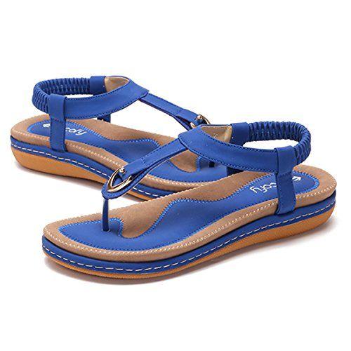 Été Plates Ville Gracosy Chaussures en Sandales Femme de XiOuTPkZ