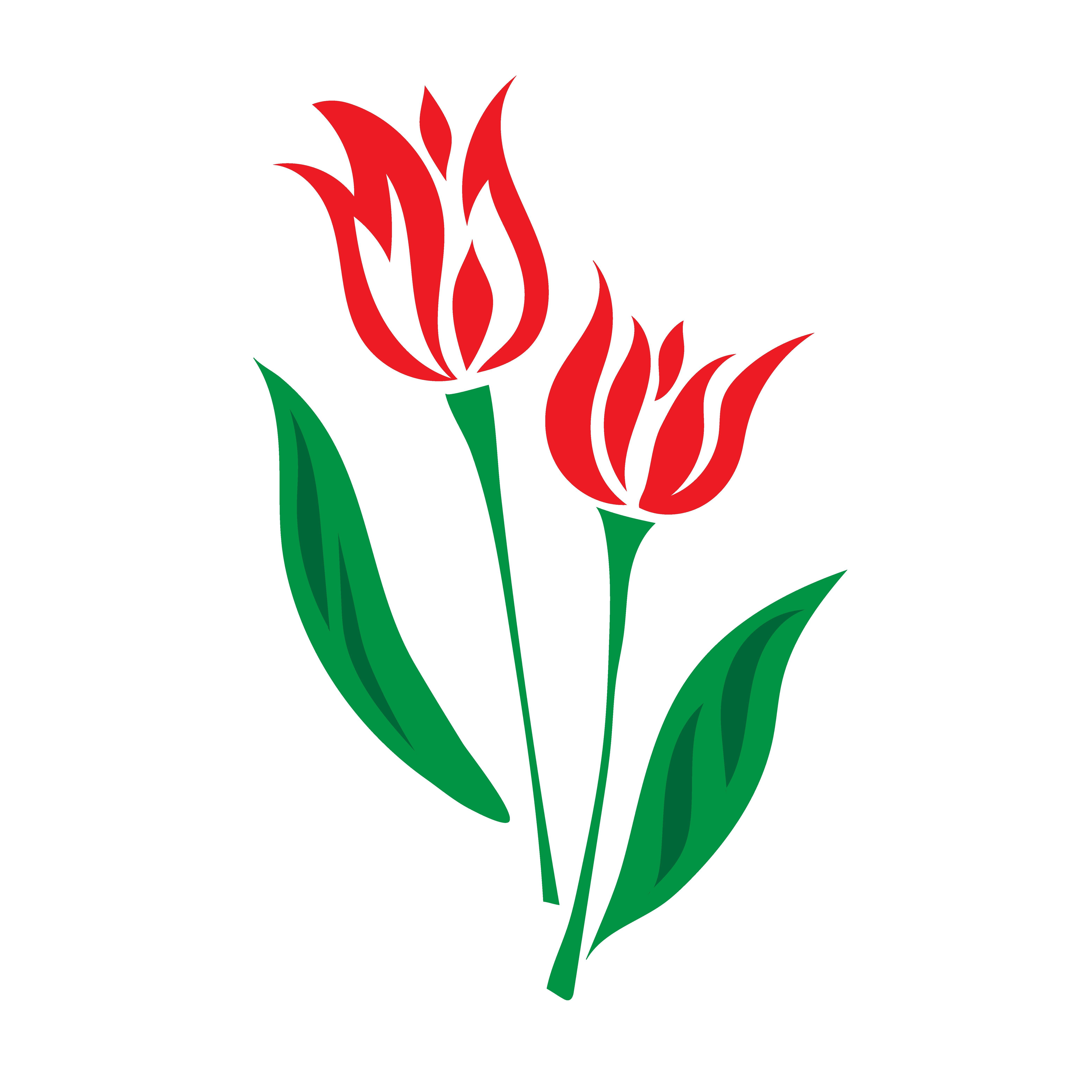 tulip vector icon tulips art tulip drawing floral border design pinterest