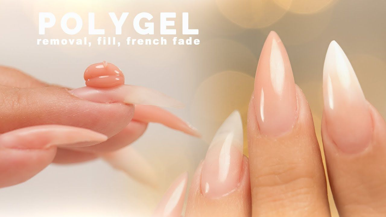Polygel Removal Fill And Sculpting A French Fade Youtube Polygel Nails French Fade French Manicure Kit