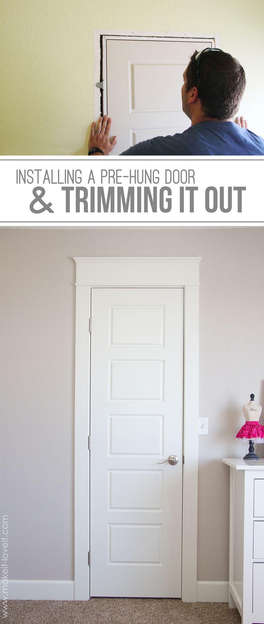 diy installing a prehung door the easy way