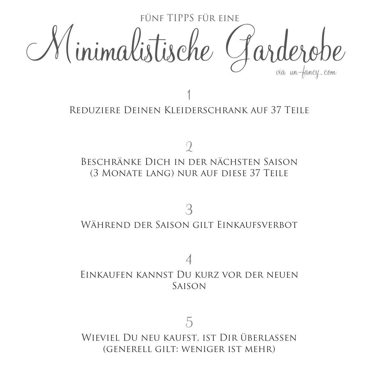 5 tipps f r eine minimalistische garderobe pinteres for Minimalismus hausarbeit