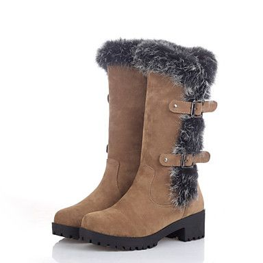 Women's Shoes  Chunky Heel Fashion Boots/Round Toe Boots Outdoor/Casual Black/Brown/Green – AUD $ 50.04