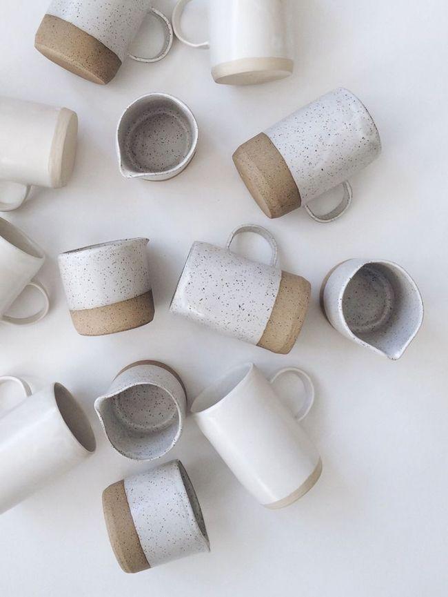 Hoje, algumas fotos, agradáveis, de acessórios de mesa em cerâmica. Eles permitem criar belas decorações.     Veja se concorda comigo.  ...