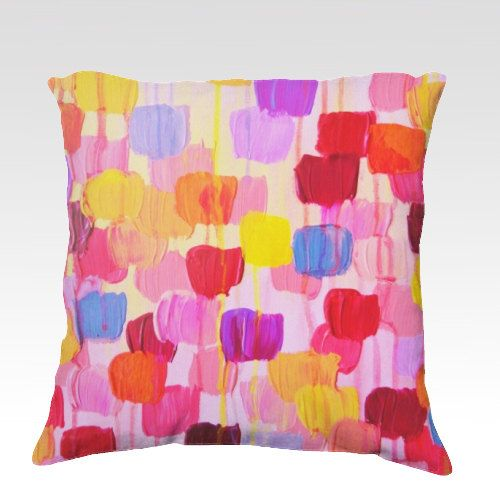 DOTTY IN PINK Decorative Art Suede Throw Pillow Cushion Cover ...